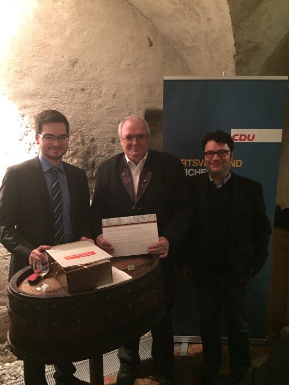 v.l.n.r.: Meinrad Wehrle, Robert Baumer, Fabio Crivellari